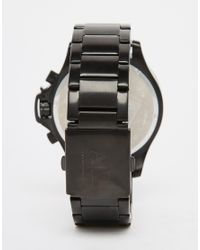 Armani Exchange | Black Ice Chronograph Watch In Stainless Steel Ax1520 for Men | Lyst