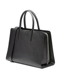 Valextra - Leather Tote - Black - Lyst