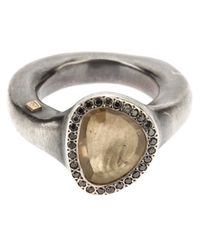 Rosa Maria | Metallic Gem Ring | Lyst
