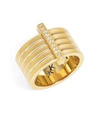 Karen Kane - Metallic Banded Ring - Lyst