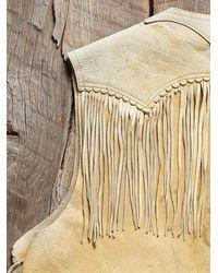 Free People - Natural Womens Vintage 1970S Leather Fringe Vest - Lyst