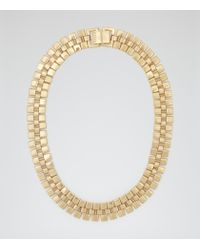Reiss | Metallic Meadow Chain Necklace | Lyst