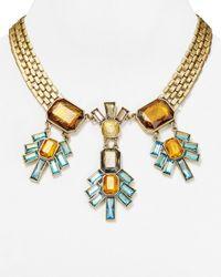 """Sam Edelman - Metallic Statement Necklace, 17"""" - Lyst"""