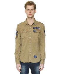 Superdry - Natural Cotton Drill Army Shirt for Men - Lyst