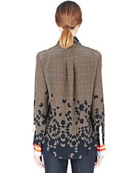 Preen By Thornton Bregazzi - Women's Houndstooth Ann Shirt In Blue - Lyst