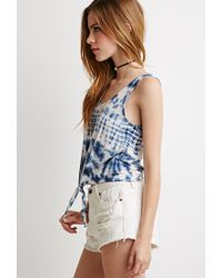 Forever 21 | Blue Tie-dyed Tank | Lyst