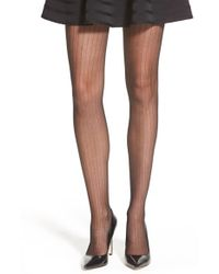 Vince Camuto | Black Pinstripe Tights | Lyst