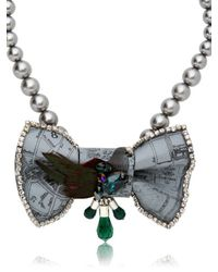 Bijoux De Famille | Gray Mr Pigeon Bow Necklace | Lyst