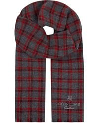 Corneliani | Red Plaid Cashmere Scarf for Men | Lyst