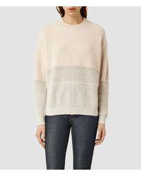 AllSaints - Natural Croft Sweater - Lyst