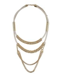 TOPSHOP | White Double Row Chain Necklace | Lyst