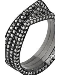 Repossi - Antifer 18-karat Black Gold-washed Diamond Ring - Lyst