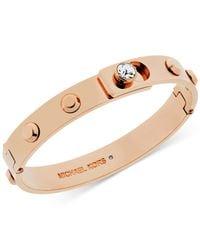 Michael Kors | Metallic Crystal Stud Bangle Bracelet | Lyst