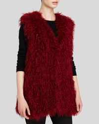 Maximilian - Red Knitted Kalgan Lamb Vest - Bloomingdale's Exclusive - Lyst