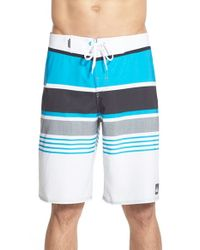 Quiksilver - Blue 'everyday' Stripe Board Shorts for Men - Lyst