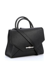 Givenchy - Black Leather Small 'Obsedia' Convertible Tote Bag - Lyst