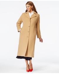 Anne Klein | Natural Plus Size Wool-cashmere Walker Coat | Lyst