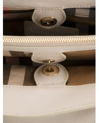 Burberry - Natural Check Detail Tote - Lyst
