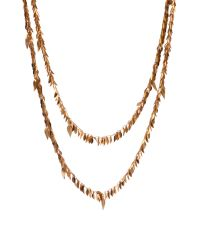 Ted Baker | Metallic Lia Leaf Cluster Long Necklace | Lyst