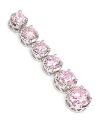 CZ by Kenneth Jay Lane - Pink 'pisi' Round Cut Cubic Zirconia Drop Earrings - Lyst