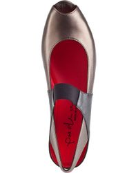 Pas De Rouge - Metallic Silvia Wedge Multi Pewter Leather - Lyst