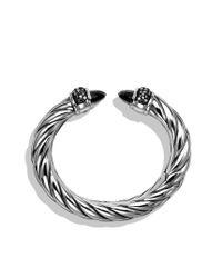 David Yurman | Waverly Bracelet with Black Onyx and Black Diamonds | Lyst