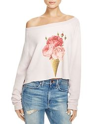 Wildfox | Pink Monte Floral Cone Sweater | Lyst