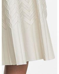 Banana Republic   Natural Br Monogram Zigzag Pleated Midi Skirt   Lyst