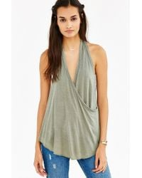 Truly Madly Deeply | Green Wrap Halter Top | Lyst