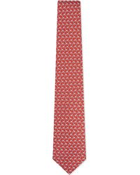 Ferragamo | Red Zebra-print Silk Tie - For Men for Men | Lyst