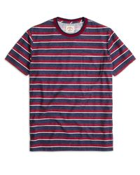 Brooks Brothers - Blue Stripe Tee Shirt for Men - Lyst