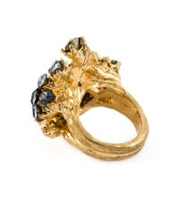 Alexander McQueen - Metallic Victorian Jeweled Skull Ring - Lyst