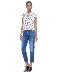Rebecca Taylor | White Sleeveless Pinwheel Posey Top | Lyst