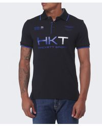 Hackett | Black Aston Martin Racing Logo Polo Shirt for Men | Lyst