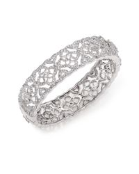 Adriana Orsini | Metallic Pavé Crystal Cutout Bangle Bracelet | Lyst
