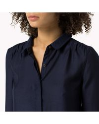 Tommy Hilfiger | Blue Polkadot Shirt | Lyst