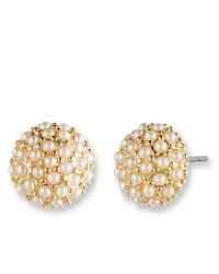 Lonna & Lilly | Metallic Clustered Pearl Stud Earrings | Lyst