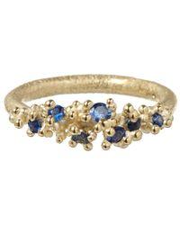 Ruth Tomlinson - Metallic Gold Sapphire Granule Ring - Lyst