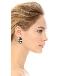 Oscar de la Renta - Crystal Leaf Earrings - Crystal/black - Lyst