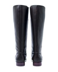 Tod's - Dark Brown Contrast Sole Leather Knee-high Boots - Lyst