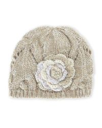 Grace Hats | Natural Flower Knit Hat | Lyst