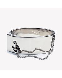 Eddie Borgo | Metallic Safety Chain Cuff Silver | Lyst