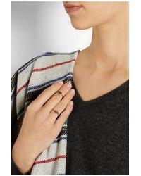 Isabel Marant - Metallic Set Of Two Gold-Tone Crystal Rings - Lyst