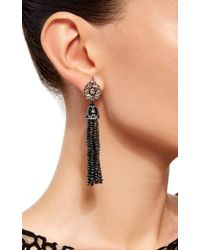 Sutra - Black Diamond Bead Chandelier Earrings - Lyst