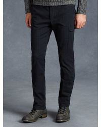 John Varvatos | Blue Cotton Cargo Pant for Men | Lyst