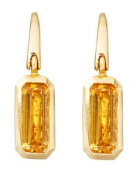 Astley Clarke | Yellow Gold-plated Citrine Prismic Drop Earrings | Lyst