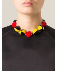 Holly Fulton - Multicolor Enamel Ball Necklace - Lyst
