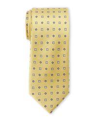Saint Laurent - Yellow Silk Tie for Men - Lyst