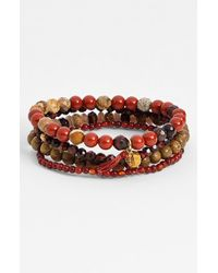 Chan Luu | Red Stone Stretch Bracelets | Lyst