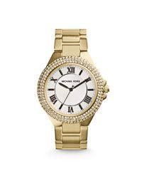 Michael Kors - Metallic Camille Pavé Gold-tone Watch for Men - Lyst